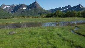 River and peaks Royalty Free Stock Photography