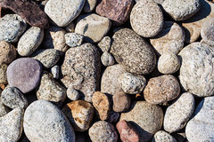 River pebble background Stock Photos