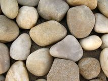 River pebbles. The oval-shaped river pebbles, very clean Stock Images