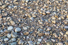 River pebbles background Royalty Free Stock Images