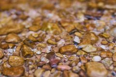 River pebbles in closeup royalty free stock image