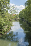 River Pegnitz in Nuremberg Stock Photography