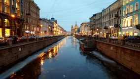 The river in the Petersburg Royalty Free Stock Photo