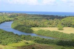 River. Photo of Wailua river in Kauai Island, Hawaii Stock Photo