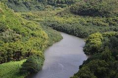 River. Photo of Wailua river in Kauai Island, Hawaii Stock Photography