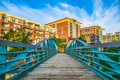 River Place Bridge in Downtown Greenville South Carolina Royalty Free Stock Images