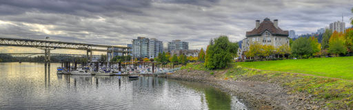River Place Marina in the Fall Panorama 2 Stock Image