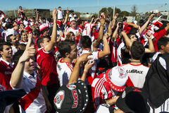 River Plate supporters in Buenos Aires, Argentina Royalty Free Stock Photo