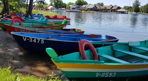 River Pleasure Boats Stock Photo
