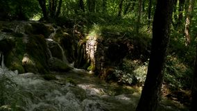 River in Plitvice Lakes National Park.  stock footage