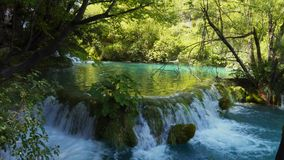 River in Plitvice Lakes National Park.  stock video footage