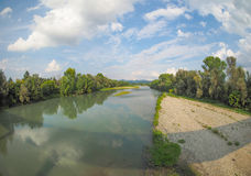 River Po in Settimo Torinese Stock Images