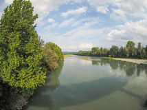 River Po in Settimo Torinese Royalty Free Stock Photo