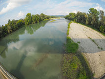 River Po in Settimo Torinese Royalty Free Stock Photography