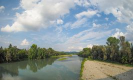 River Po in Settimo Torinese Stock Photos
