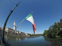 River Po in Turin Royalty Free Stock Photos