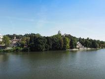 River Po in Turin. Fiume Po meaning River Po in Turin, Italy Stock Photography