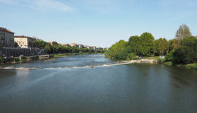 River Po in Turin. Fiume Po meaning River Po in Turin, Italy Royalty Free Stock Photography