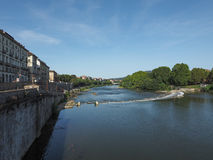 River Po in Turin. Fiume Po meaning River Po in Turin, Italy Stock Images