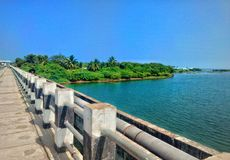 River. Pondicherry to chennai ecr muttukadu river royalty free stock photography