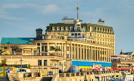 The River Port building in Kiev, the capital of Ukraine Royalty Free Stock Photo