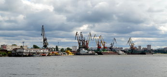 River port in Cherepovets Stock Image