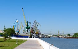 River port on Irtysh.Omsk.Russia Royalty Free Stock Photos