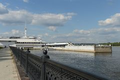 River port on the Volga river Stock Photos