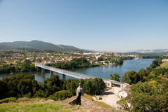 River between portugal and spain Stock Photography