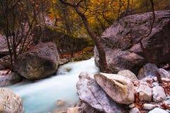 River of Pozar at Aridaia. In north Greece royalty free stock photos