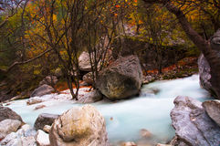 River of Pozar at Aridaia. In north Greece stock images
