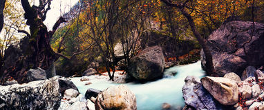 River of Pozar at Aridaia Stock Image