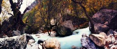 River of Pozar at Aridaia. In north Greece stock image