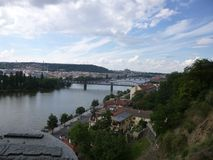 River in Prague royalty free stock photography
