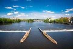 River in Prague Royalty Free Stock Image