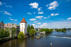 River in Prague Royalty Free Stock Images