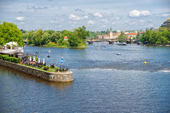 River in Prague Stock Images