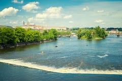 River in Prague Royalty Free Stock Photos