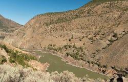 River in prairie Stock Photo