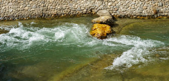 River with prepared rapids. Detailed view of river with prepared rapids Stock Photography
