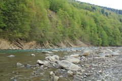 River Prut. Nature of the Carpathians Yaremche Royalty Free Stock Photos