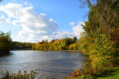 River in Quebec, Canada. Cap-Rouge river in Quebec, Canada. Canadian and autumn landscape Stock Images