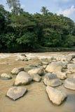 River-Querneigung Stockbild