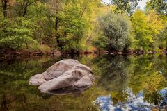 The river with a quiet current Royalty Free Stock Image