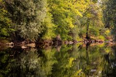 The river with a quiet current Royalty Free Stock Images