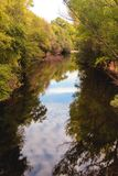 The river with a quiet current Royalty Free Stock Photo