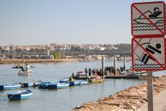 River of Rabat, Morocco Stock Images