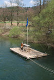 River Raft near Planina, Slovenia Stock Photography