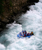 River Rafting. Chilko river british columbia/river rafting Stock Photo