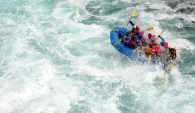 River Rafting. Chilko river british columbia/river rafting Stock Photos